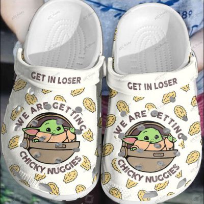 Baby Yoda Get In Loser We are getting chicky nuggies Crocs Clog Crocband