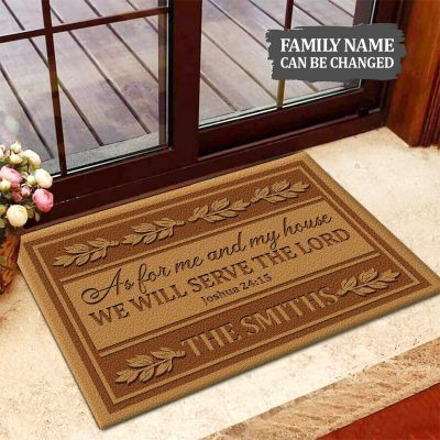 As For Me And My House We Will Serve The Lord Doormat