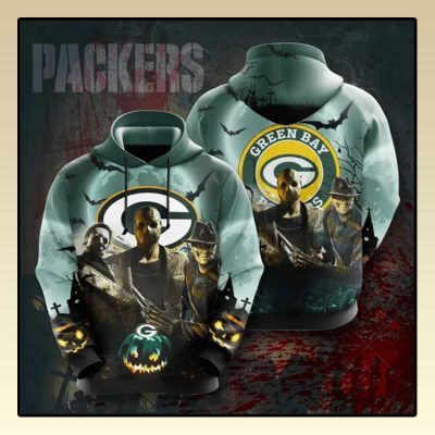 Horror Character Green Bay Packers All over print d hoodie