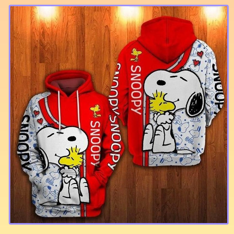 Snoopy And Woodstock d All Over Printed Hoodie