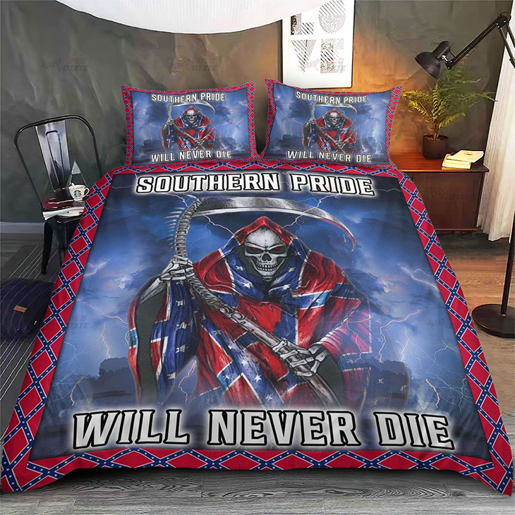 Southern Pride Will Never Die Quilt Bedding Set