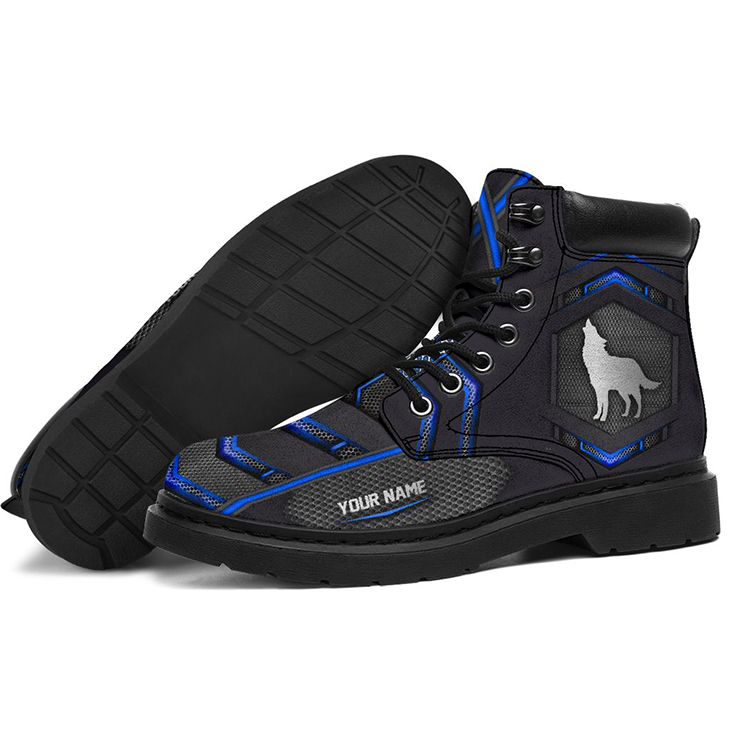 Wolf Personalized Printed Carbon Pattern Boots