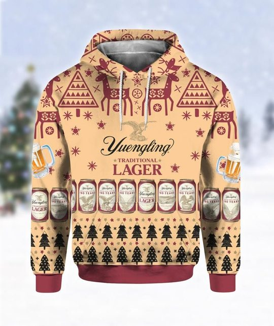 Yuengling lager beer all over print d hoodie
