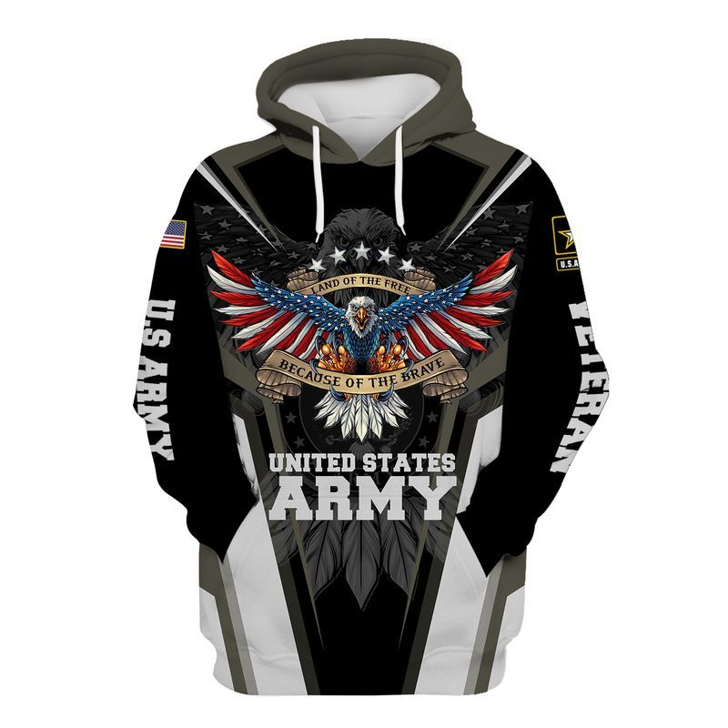 Eagle Land of the Free Because Of The Brave United States Army D Hoodie Shirt