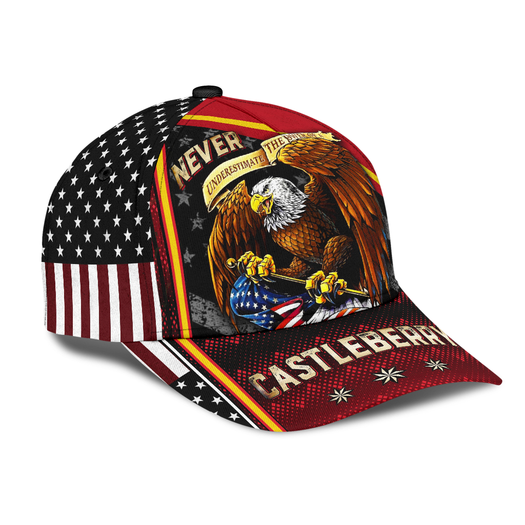 Eagle Never Underestimate The Power Of A Castleberry Cap Hat
