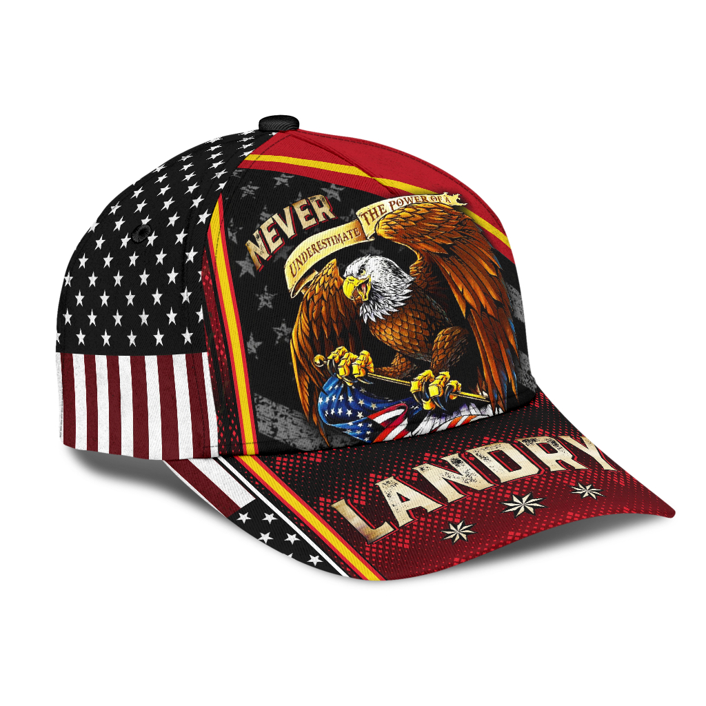Eagle Never Underestimate The Power Of A Landry Cap Hat