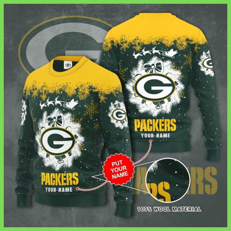 Green Bay Packers custom personalized ugly Christmas sweater