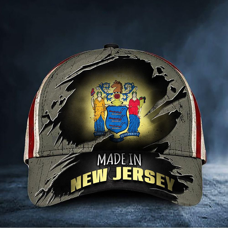 New Jersey Flag Made In New Jersey Cap Hat