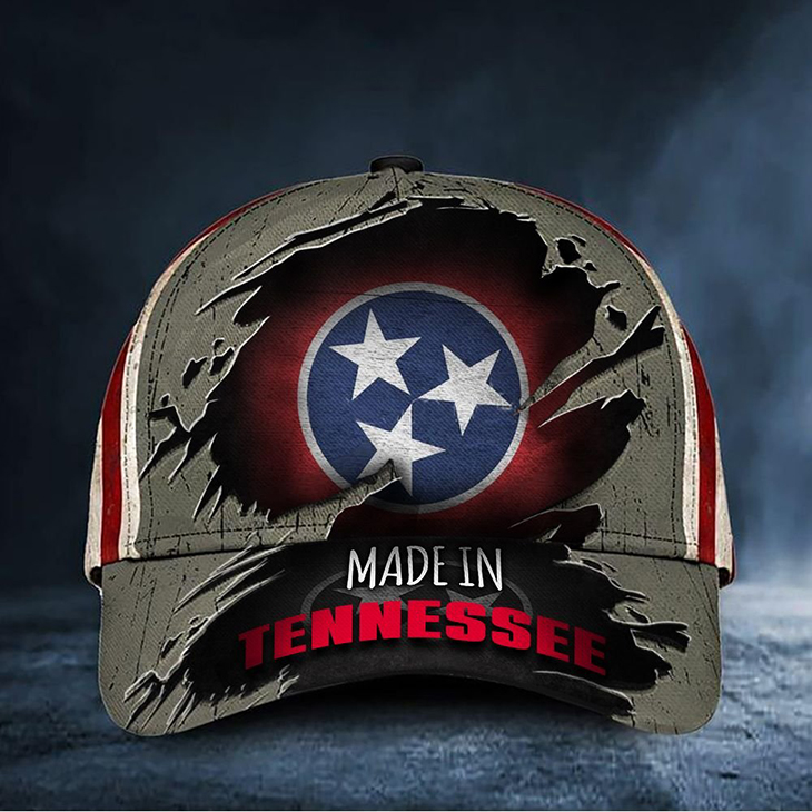 Tennessee Flag Madein Tennessee Baseball Cap