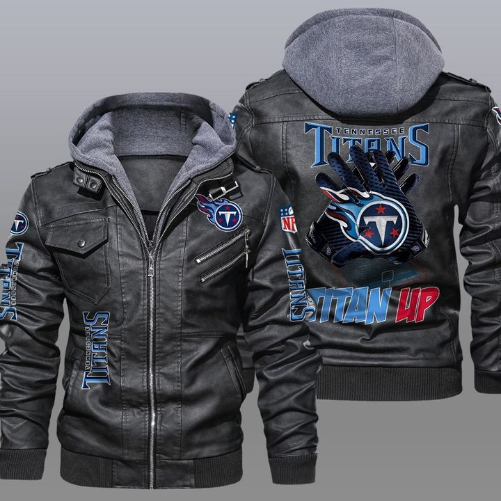Tennessee Titans Titan Up Leather Jacket