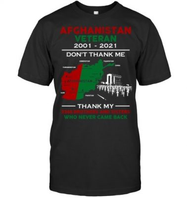 Afghanistan Veteran thank my brothers and sisters who never came back map shirt hoodie