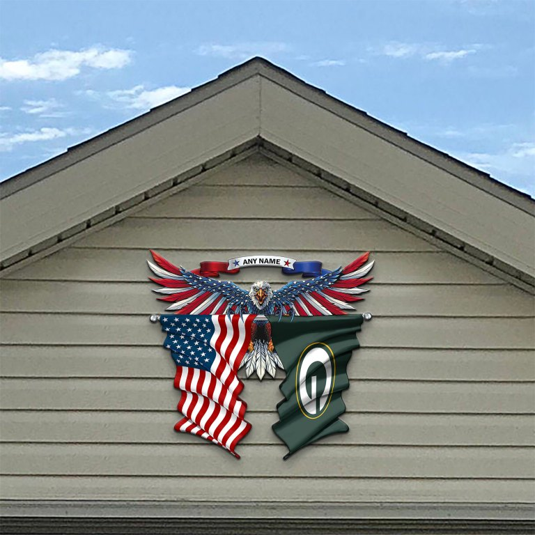 Green Bay Packers Eagle American flag Metal Sign