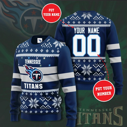 Personalized Tennessee Titans custom Christmas Sweater