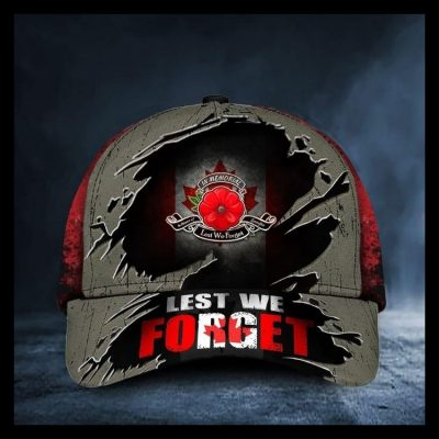 Poppy Remembrance Day Canada Lets we forget cap hat