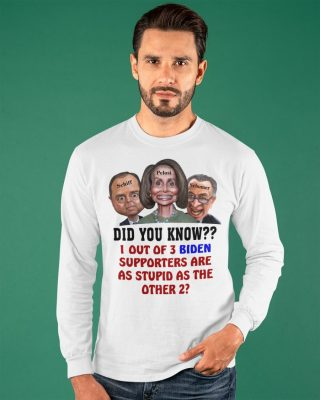 Schiff Pelosi Schumer did you know out of Biden supporters are as stupid as the other shirt hoodie