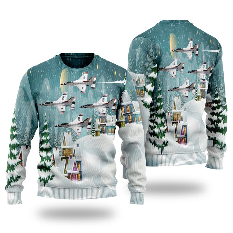 US Air Force Thunderbirds Christmas Ugly Sweater
