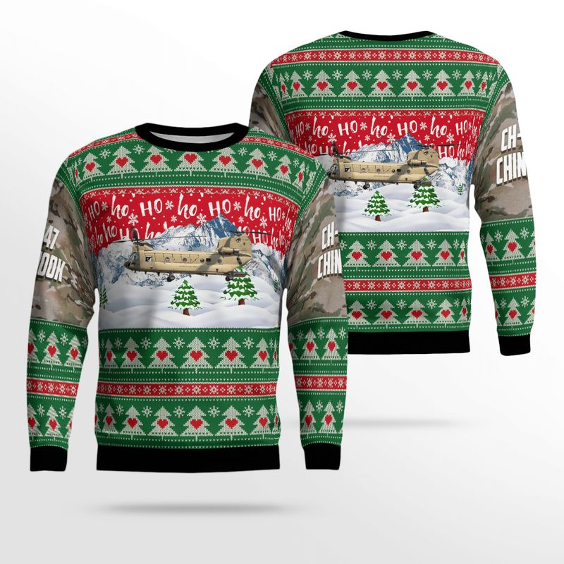 US Army CH F Chinook Ugly Sweater