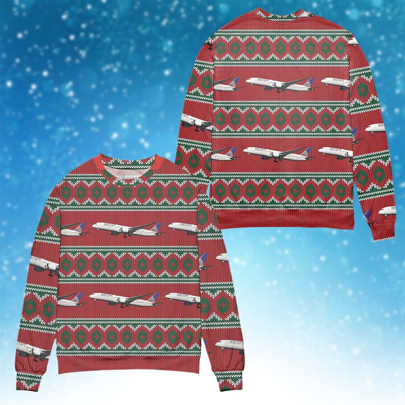 United Airlines Ugly Sweater